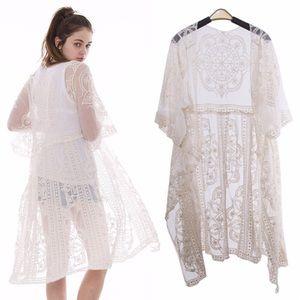🆕Ivory Lace Vintage Style Kimono